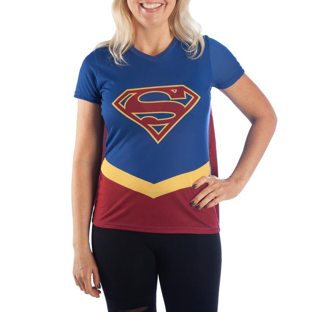 DC Supergirl Cape Tee Cosplay Supergirl Shirt Supergirl Cosplay - Supergirl Cape Shirt DC Comics Supergirl TShirt - SPNDER, LLC