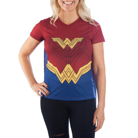 Wonder Woman Cosplay Cape Shirt - SPNDER