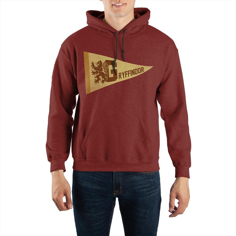 Harry Potter Gryffindor Pennant Pullover Hooded Sweatshirt - SPNDER, LLC