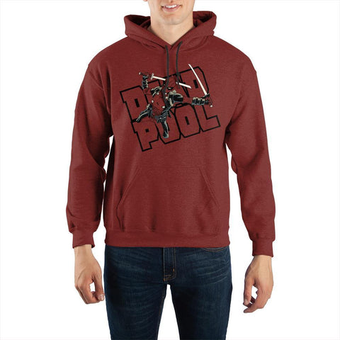 Marvel Deadpool Katana Pullover Hooded Sweatshirt - SPNDER