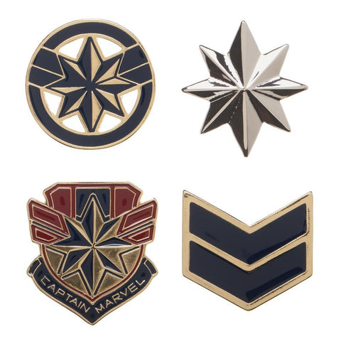 Marvel Accessories Captain Marvel Lapel Pin Set - 4-Pack - SPNDER, LLC