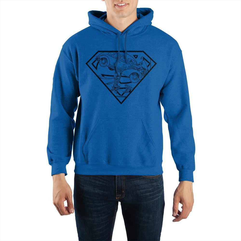 DC Comics Superman Hidden Art Pullover Hoodie Sweatshirt - SPNDER