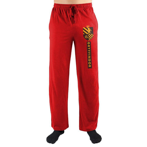 Harry Potter House Gryffindor Emblem Pajama Pants - SPNDER, LLC