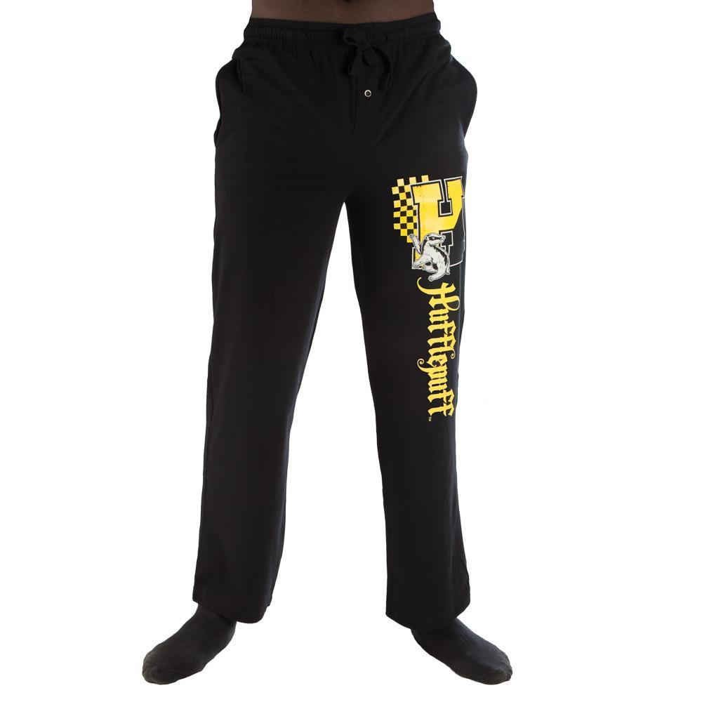 Harry Potter H Hufflepuff Logo Print Men's Loungewear Lounge Pants - SPNDER, LLC