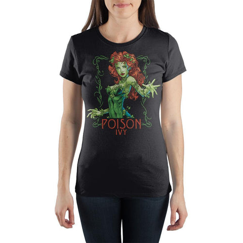 DC Comics Poison Ivy Women's Gray T-Shirt - SPNDER, LLC