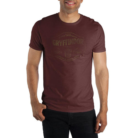 Harry Potter Founder Godric Gryffindor of Gryffindor House Hogwarts School of Witchcraft & Wizardry Men's Dark Burgundy T-Shirt - SPNDER, LLC