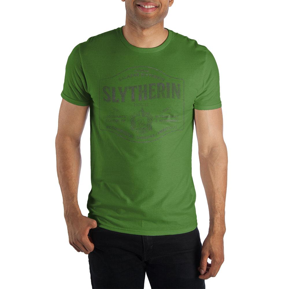 Harry Potter Founder Salazar Slytherin of Slytherin House Hogwarts School of Witchcraft & Wizardry Men's Green T-Shirt - SPNDER, LLC
