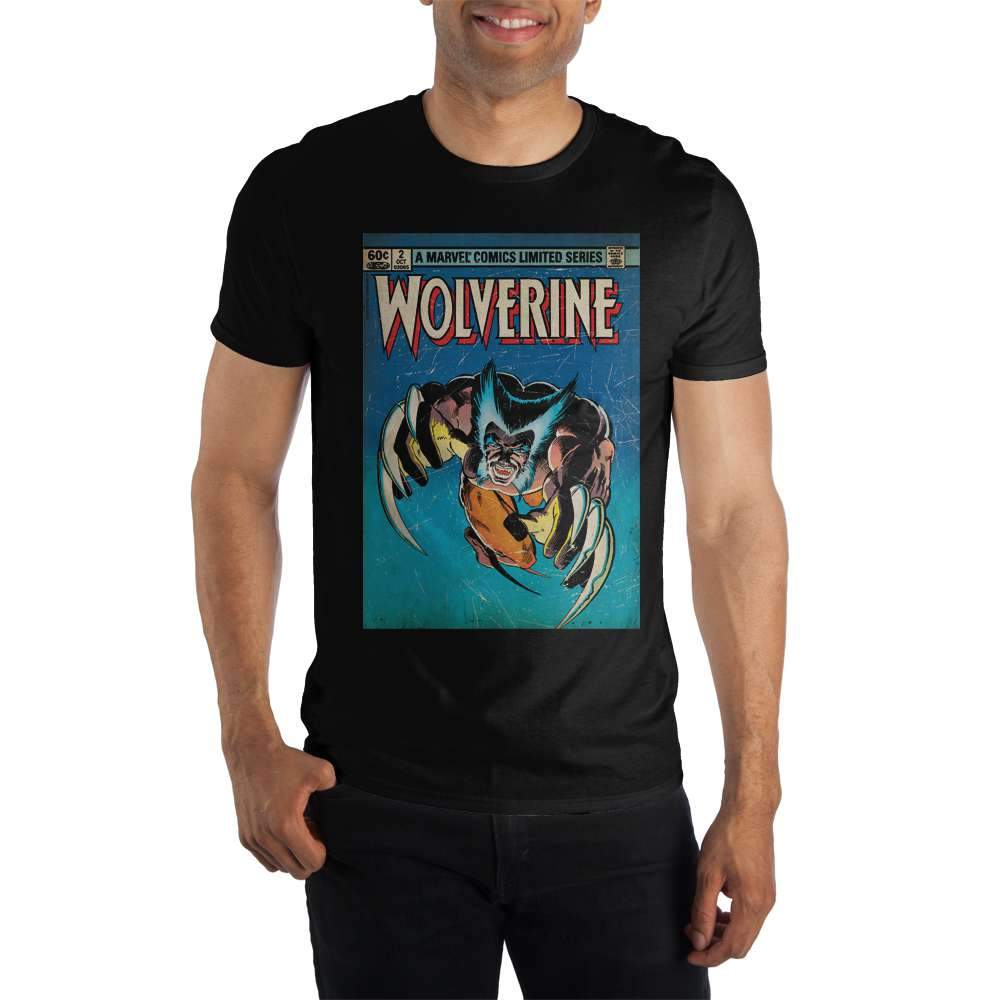 Marvel Comics Limited Series Wolverine Claws Out Men's Black T-Shirt Tee Shirt - SPNDER, LLC
