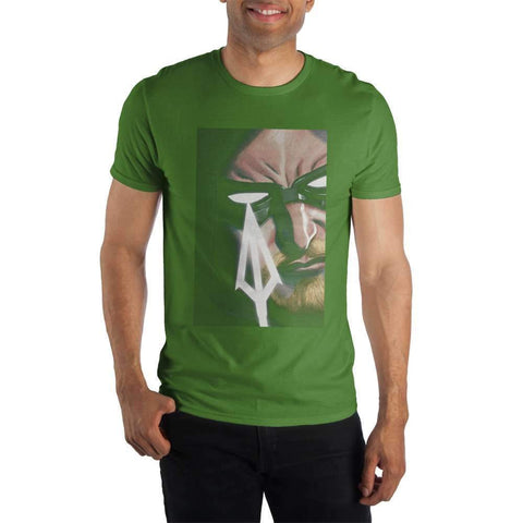 DC Comics Green Arrow Men's Kelly Green Shirt T-Shirt - SPNDER, LLC