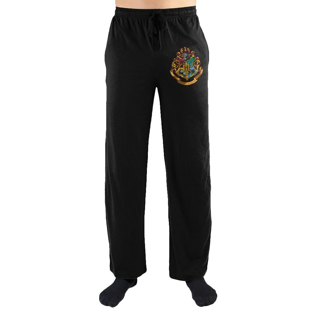 Harry Potter Hogwarts School Seal Print Men's Loungewear Lounge Pants Gift - SPNDER, LLC