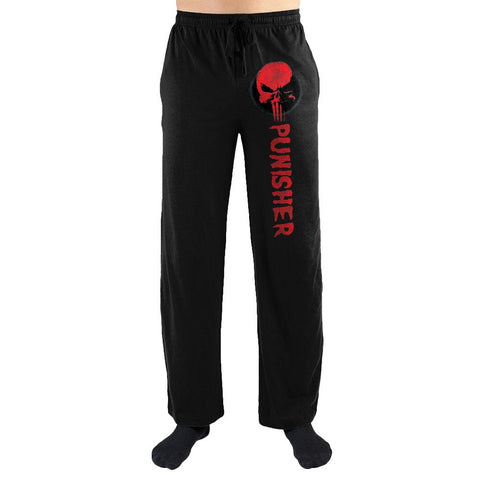 Marvel Comics The Punisher Red Skull Print Men's Loungewear Lounge Pants - SPNDER, LLC