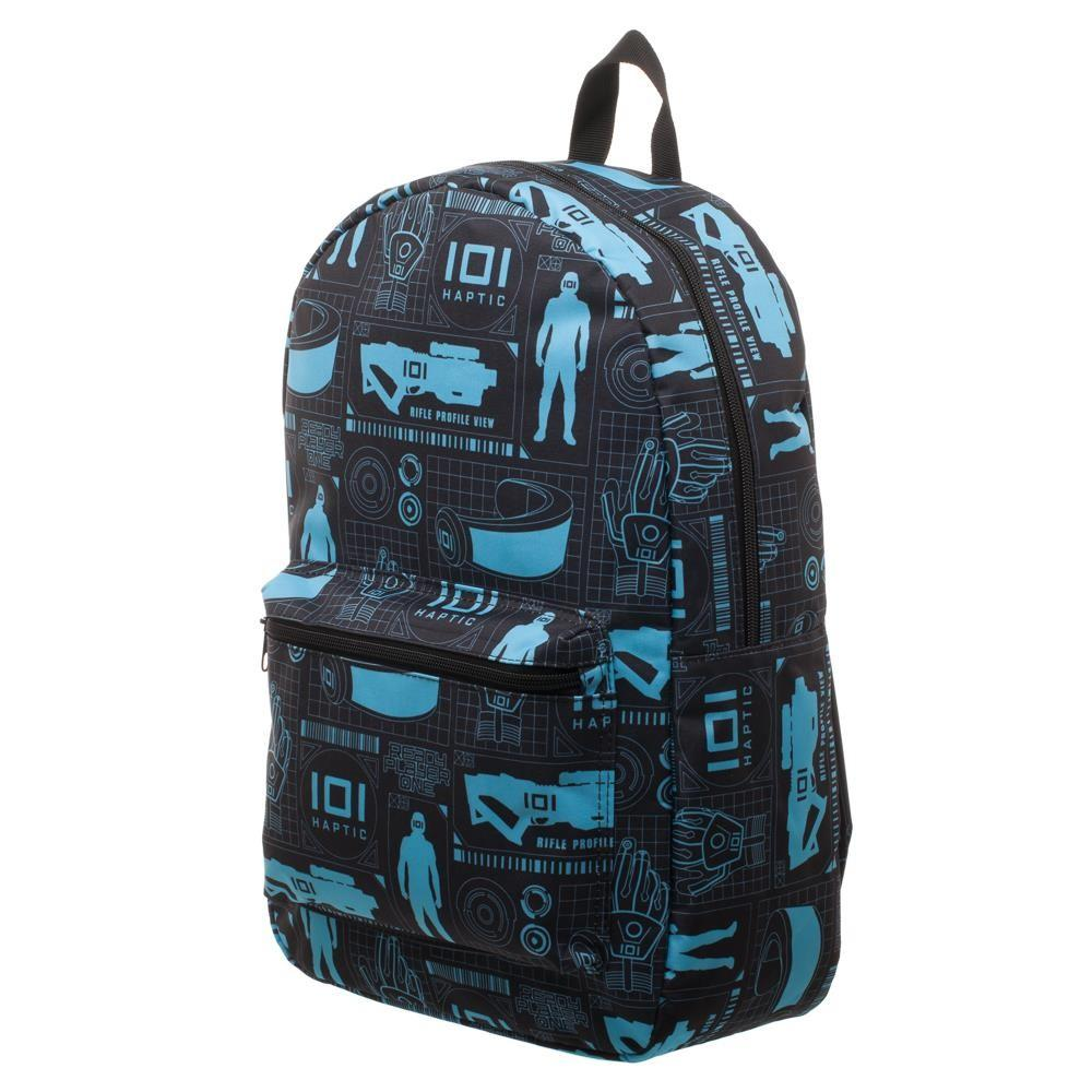 Innovative Online Industries Pattern Backpack, Sublimated Backpack with Gaming Grid Design, MMORPG Virtual Reality - SPNDER