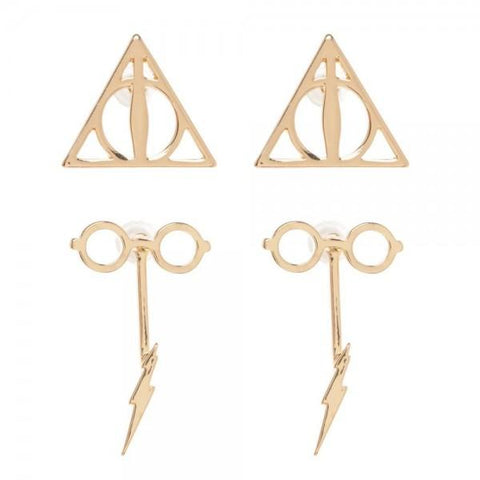 Harry Potter Double Drop Earring Set - SPNDER, LLC