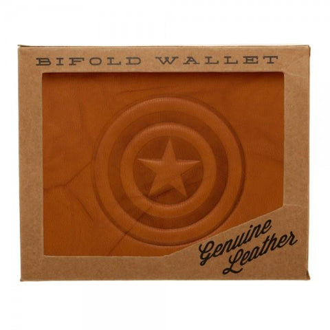 Marvel Captain America Leather Bi-Fold Wallet - SPNDER, LLC