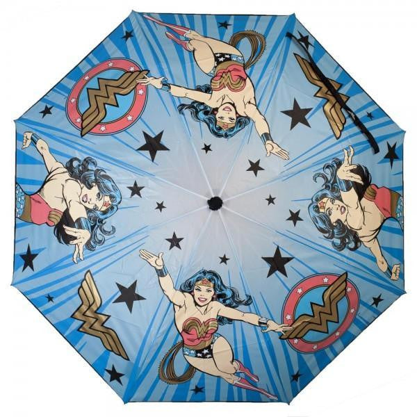 DC Comics Wonder Woman Liquid Reactive Umbrella - SPNDER