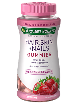 Gomitas De Biotina Nature's Bounty 2,500 mcg 80 Gomitas