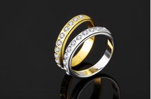 Gold Ring With Encrusted Diamonds