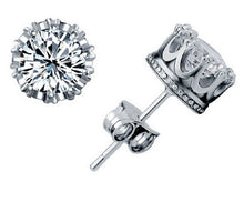 Diamond Cz Crown Earring
