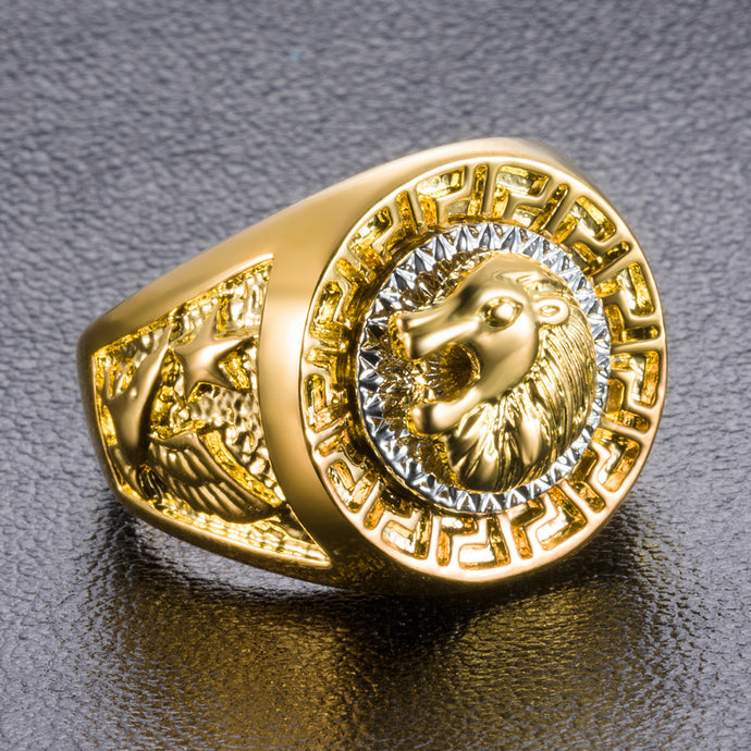 Gold Vintage Lion Ring