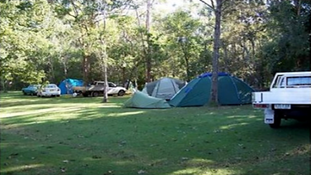 Broadwater camping area for families