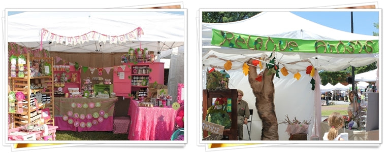 Pink market stall and craft market stall