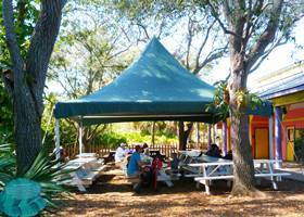 Ginormous green gazebo tent