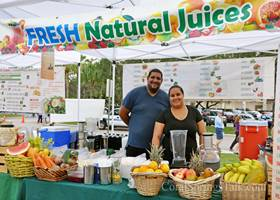 Fresh fruit juice stall
