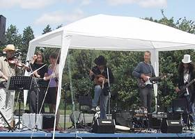 White gazebo tent for live bands