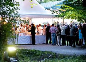 White gazebo for wedding receptions