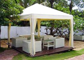 Fancy backyard white gazebo tent