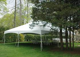 Ginormous white gazebo tent