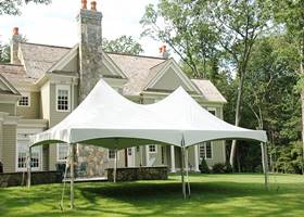 Massive white gazebo tent in your yard