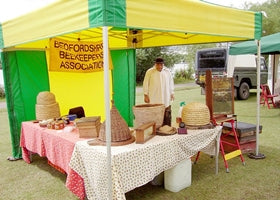 Bright yellow and green gazebo tent for market stalls