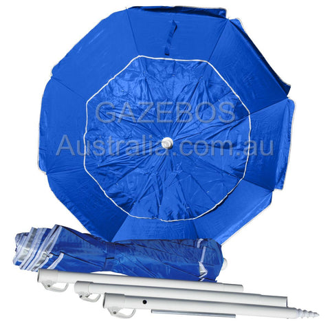 Portabrella 195cm compact beach umbrella blue