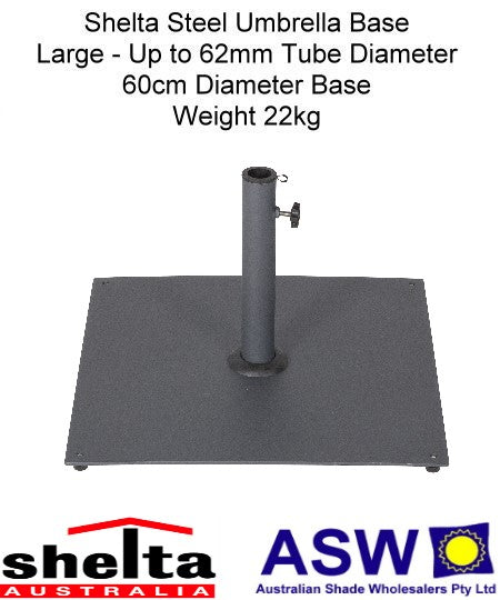Shelta Large Steel Umbrella Base 60cm x 60cm