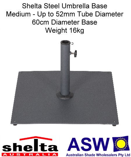 Shelta Medium Steel Umbrella Base 60cm x 60cm