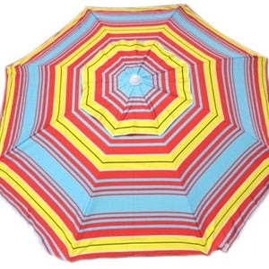 Shelta Cottesloe 200cm Beach Umbrella Red/Yellow 98% UV Protection Tilt Top Vent