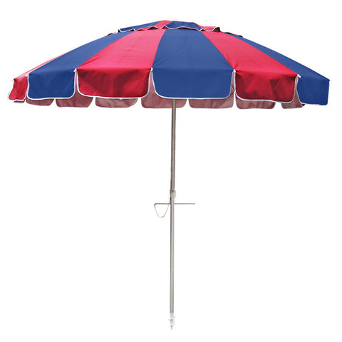 Beachkit Carnivale Navy Red 240cm Beach Umbrella