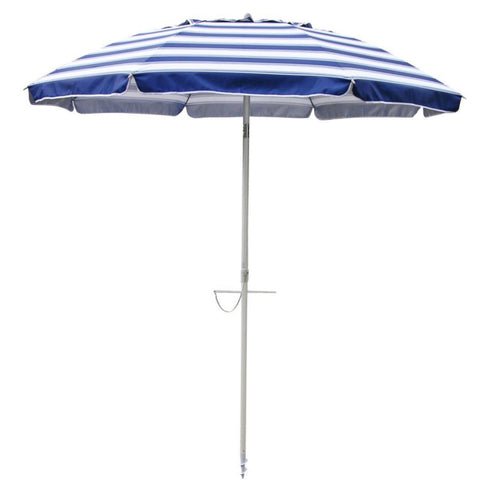 Beachkit Daytripper Navy White 210cm Beach Umbrella