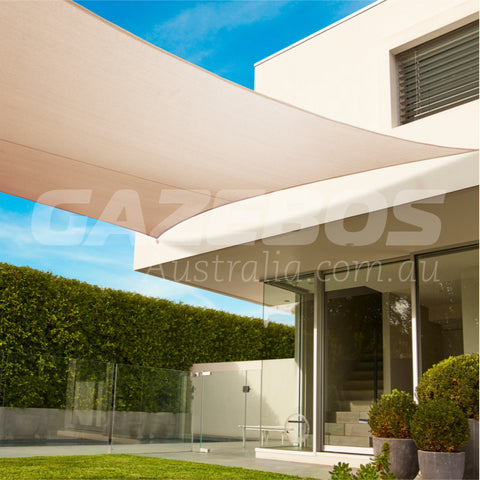 Coolaroo 95% UV Commercial Shade Sail Square 5.4m X 5.4m Shadecloth