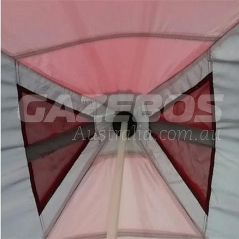 OZtrail Deluxe Hydroflow Frame 6.0 Gazebo with Deluxe Canopy 6m x 3m