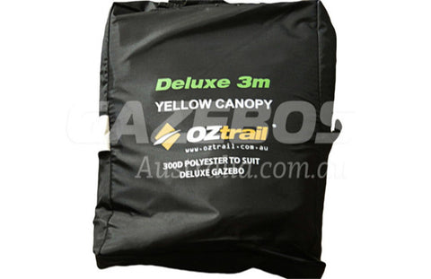 3m x 3m Replacement Canopy for OZtrail Deluxe 3.0 Gazebo Yellow