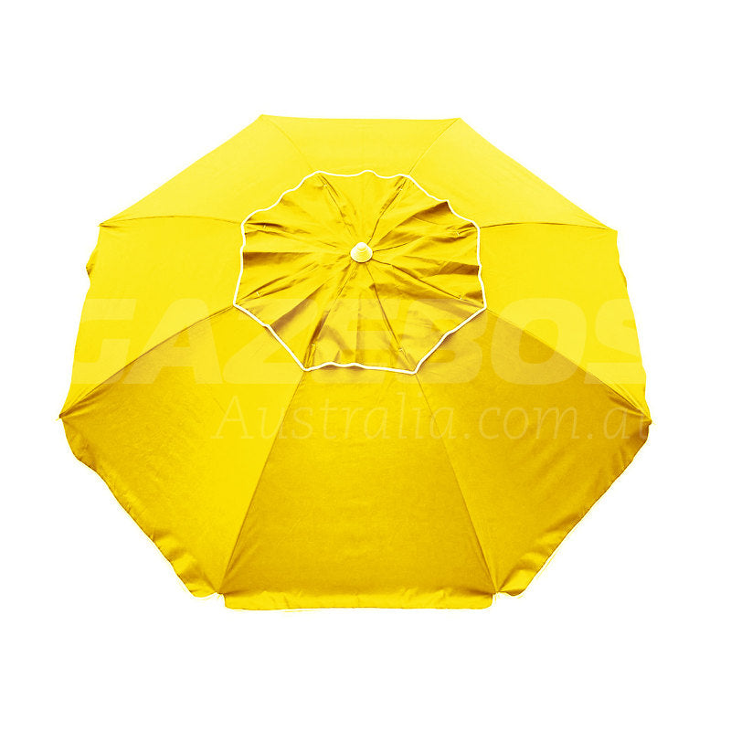 Beachkit Beachcomber Yellow 210cm Beach Umbrella