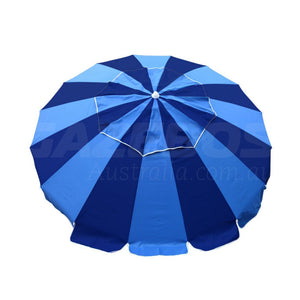 Beachkit Carnivale Royal Navy 240cm Beach Umbrella