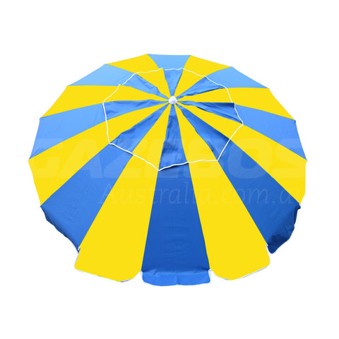 Beachkit Carnivale Royal Yellow 240cm Beach Umbrella
