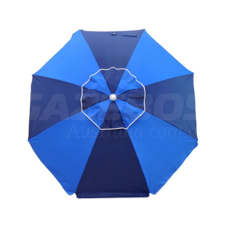Beachkit 185cm Fiesta Umbrella - Navy/Royal