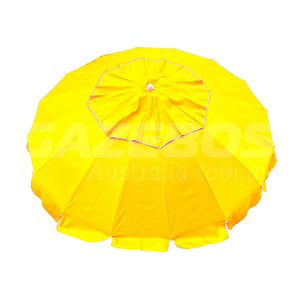 Beachkit Maxibrella Yellow 240cm Canopy Vent Beach Umbrella