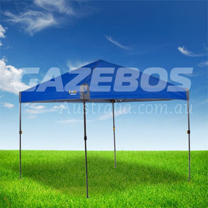 OZtrail Compact 2.4 Gazebo with Blue Canopy 2.4m x 2.4m
