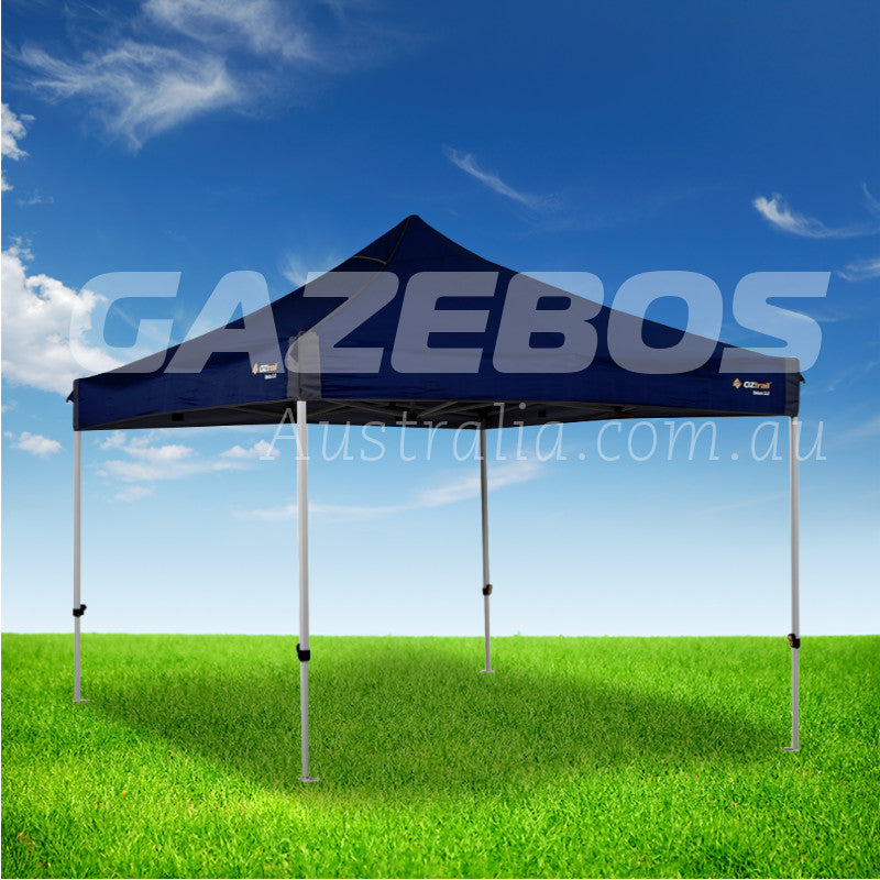OZtrail Deluxe 3.0 Gazebo with Blue Canopy 3m x 3m