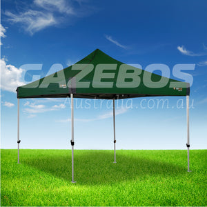 OZtrail Deluxe 3.0 Gazebo with Green Canopy 3m x 3m